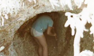 Janet digging for agates - Agate Creek 1978